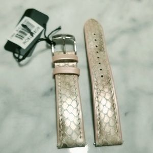 Michele Iridescent Snakeskin Leather Watch Band